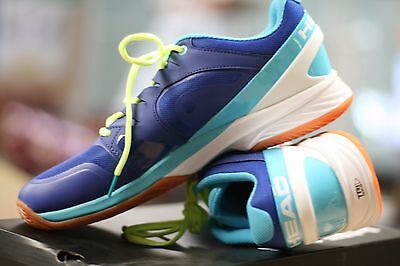 Head Indoor Shoes Nitro Pro Racquetball Court Shoes Blue/neon Yellow Mens Us 10