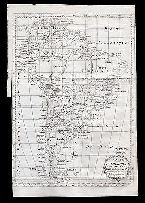 Campre 1835 Antique Map: SOUTH AMERICA, TERRA FIRMA, BRAZIL, GUIANA, PARAGUAY