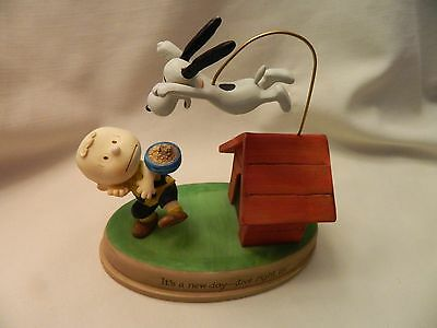 Cute 2010 Hallmark Peanuts Gallery Figurine - It's A New Day--Dive Right In!