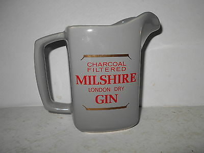 Charcoal Filtered Milshire London Dry Gin Barware Advertising Pitcher
