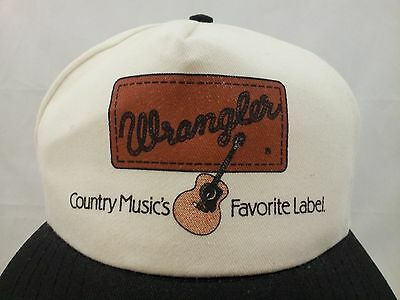 Wrangler country music hat cap jeans old vintage vtg white guitar Texas