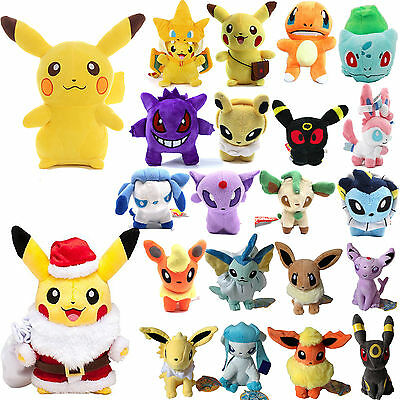 Pokemon Pikachu Eevee Squirtle/Bulbasaur/Charmander Plush Stuffed Doll Toys Gift