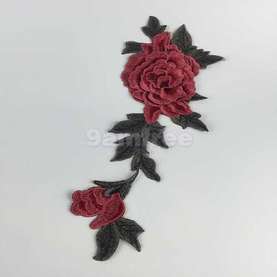 Embroidered Flower Motif Collar Neckline Applique Sew on Patch Sewing Craft