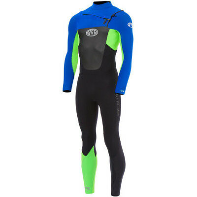 Animal Lava Front Zip 3 2 Mens Surf Gear Wetsuit - Ultra Violet Blue All Sizes