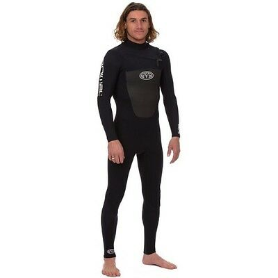 Animal Lava Front Zip 4~3 Mens Surf Gear Wetsuit - Black All Sizes