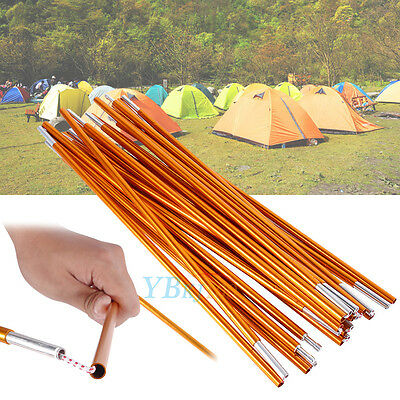 2x Outdoor 4M Backpacking Aluminium Alloy Tent Pole Support Bar For Camping
