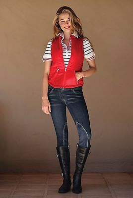 Goode Rider Couture Jean Rider Knee Patch Breeches Retail $169 With Tags! Sz 34L
