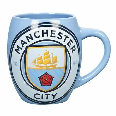 Manchester City FC Official Ceramic Football Crest Tea Mug