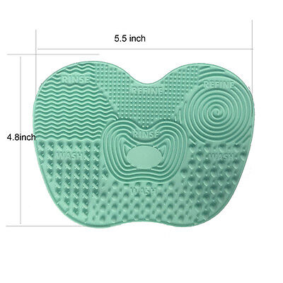 Silicone Brush Cleaner Cosmetic Cleaning Pad Makeup Brush Washing Scrubber Board