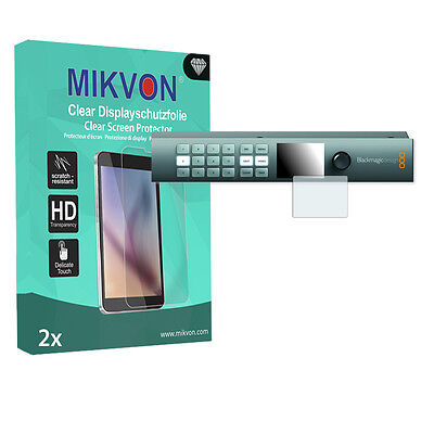 2x Mikvon Clear Screen Protector for Blackmagic Smart Videohub CleanSwitch 12x12
