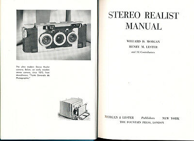 """Morgan & Lester libro """"Stereo Realist Manual"""" 1954 in inglese D864"""