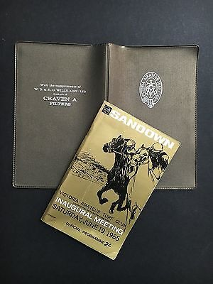 Race Book V.a.t.c Sandown Inaugural Meeting June 19 1965 With V.a.t.c Wallet
