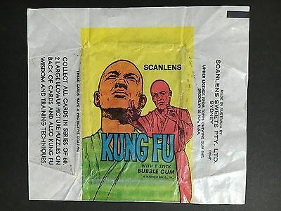 "Scanlens ""kung Fu"" 1973 Card Wrapper"