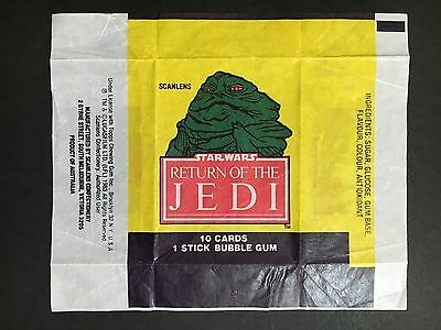 "Scanlens 1983 Star Wars ""return Of The Jedi""  Card Wrapper - Jabba The Hutt"
