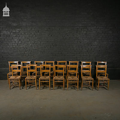Large Set of Early 20th C Chapel Seats - 15 Available