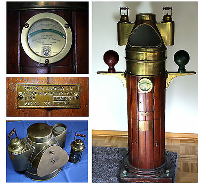 Ship's binnacle Antique COMPASS by Kelvin & Hughes KELVIN BOTTOMLEY & BAIRD LTD