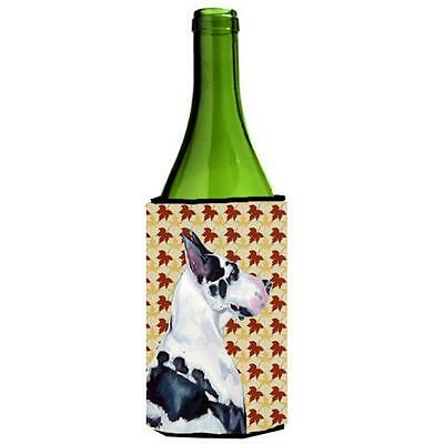 Carolines Treasures Great Dane Fall Leaves Portrait Wine Bottle Hugger