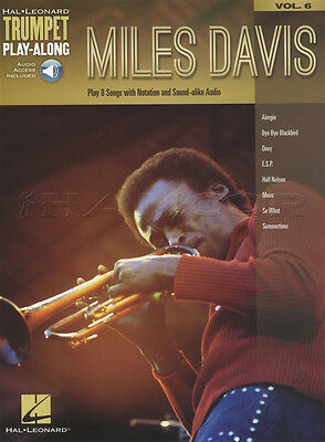 Miles Davis Trumpet Play-Along Sheet Music Book with Audio Doxy Airegin Move