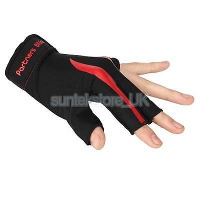 1pc Billiards Pool Table Snooker 3 Finger Glove Cue Left Hand Spandex Mitt