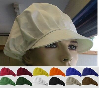 Baker Cap Polycotton Bakery Hat Professional Catering Chef Cap - Various Colours