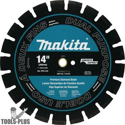 "14"" Segmented Dual Purpose Diamond Blade Makita T-01270 New"