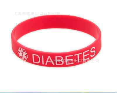 1PCSNEW Diabetic Patient Medical Alert Food Grade Silicone Rubber Bracelet Wrist