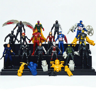 16pcs Avengers Super Heroes Captain America 3 Action Figures Doll Kids Toy Gift