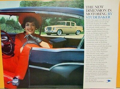 1959 Studebaker Lark 4 Door Hardtop Sedan Wagon Hawk Color Sales Brochure Orig