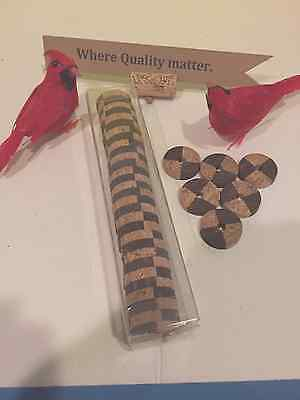 "30 pcs   Thin Fancy Cork Rings (1-1/4"" x 1/4"" x 1/4 bore) free gift Box"