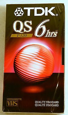 TDK VHS Video Tape T-120 QS Quality Standard 6hrs New Sealed