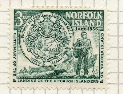 Norfolk Island 1956 Early Issue Fine Mint Hinged 3d. 096294