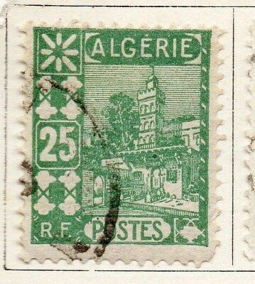 Algeria 1926-27 Early Issue Fine Used 25c. 096482