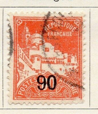 Algeria 1927 Early Issue Fine Used 90c. Surcharged 096493