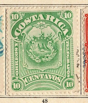 Costa Rica 1892 Early Issue Fine Used 10c. 096030