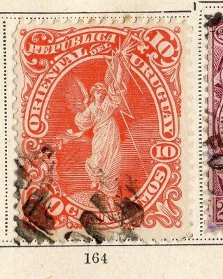 Uruguay 1897 Early Issue Fine Used 10c. 096041