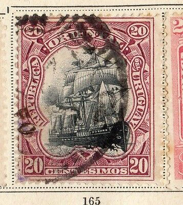 Uruguay 1897 Early Issue Fine Used 20c. 096042