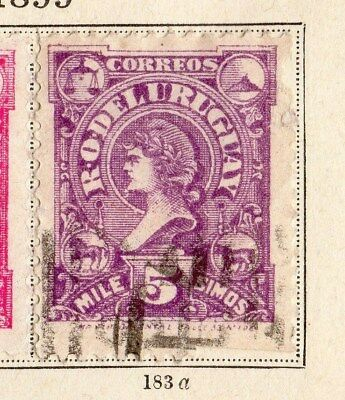 Uruguay 1899 Early Issue Fine Used 5m. 096047