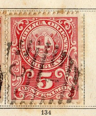 Uruguay 1894 Early Issue Fine Used 5c. 096063