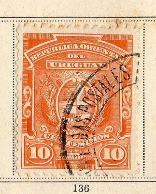 Uruguay 1894 Early Issue Fine Used 10c. 096064