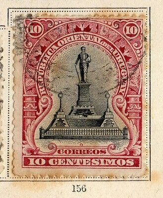 Uruguay 1896 Early Issue Fine Used 10c. 096072