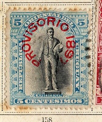 Uruguay 1897 Early Issue Fine Used 5c. Optd 096074