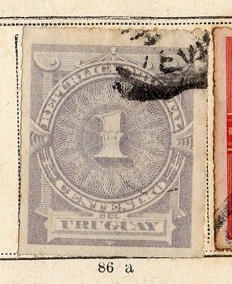 Uruguay 1884-85 Early Issue Fine Used 1c. 096076