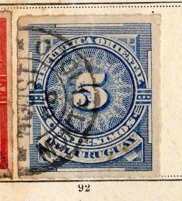 Uruguay 1884-85 Early Issue Fine Used 5c. 096078