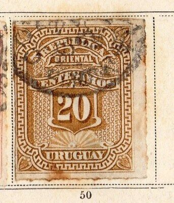 Uruguay 1877 Early Issue Fine Used 20c. 096103