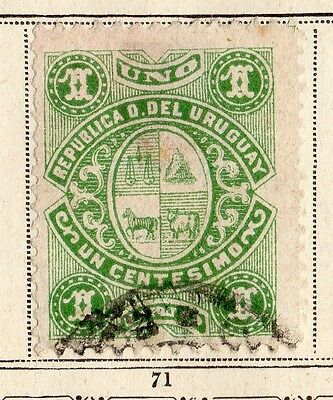 Uruguay 1883-84 Early Issue Fine Used 1c. 096105