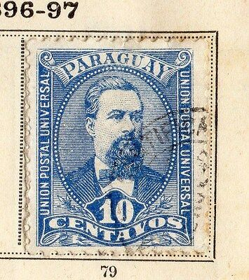 Paraguay 18966-97 Early Issue Fine Used 10c.  096200