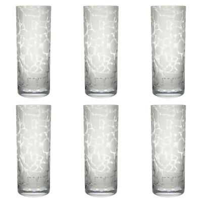 6 Impulse Frosted Leopard Spot 10oz Highball Glasses Restaurant Wholesale Lot
