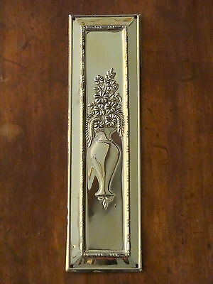 10 Finger Plates Reclaimed Brass Arts & Crafts Door Push Fingerplate