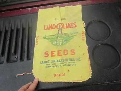 Vintage Land O Lakes Seeds  Feed Seed Sack Bag Indian Maiden Cloth