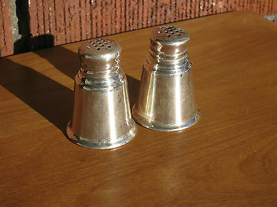 Vintage Sterling Silver .925 Salt & Pepper Shakers 32g